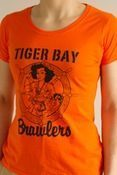Original logo ladies fit orange tshirt